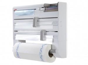 porta rotoli cucina alluminio trasparente
