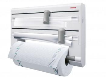supporto porta rotoli da cucina alluminio trasparente e scottex leifheit