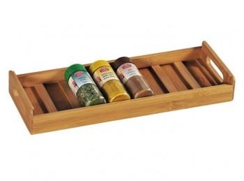 vassoio legno a scomparti porta barattoli spezie universale da cassetto