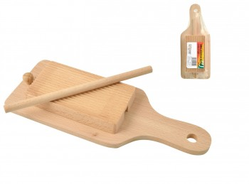 riga gnocchi legno con accessorio pasta fresca garganelli
