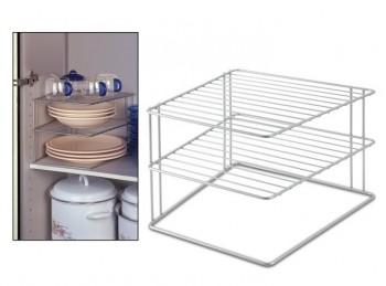 mensola ripiano doppio piano per cucina metti in ordine metaltex