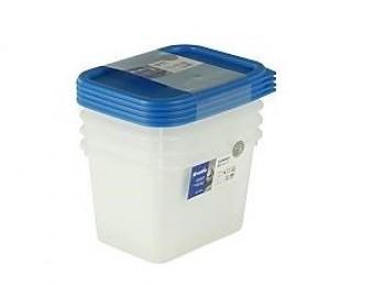 set scatole contenitore frigo freezer rotho con coperchio