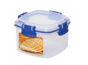 scatola plastica ermetica con ganci frigo freezer
