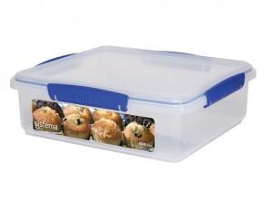 scatola box contenitore frigo e torte plastica sistema