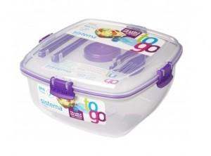 scatola lunch box per pranzo fuori casa con posate