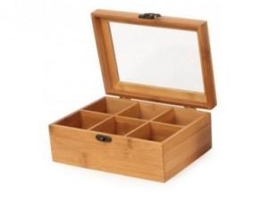 scatola box portabustine thè infusi legno bamboo