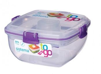 scatola porta pranzo lunch box plastica con posate sistema