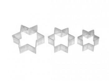 stampini tagliabiscotti frollini stella 6 punte birkmann