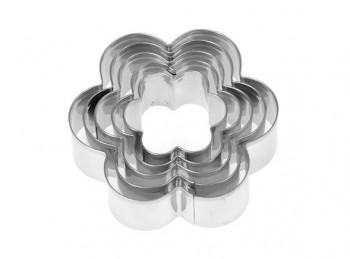 set 5 stampino forma taglia pasta e biscotto fiorellino
