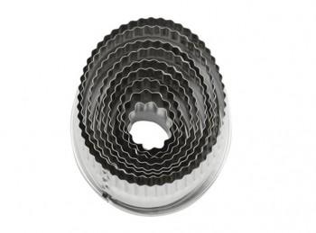 serie taglia pasta ovale bordo ondulato acciaio inox paderno