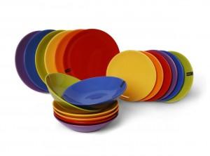 servizio piatti tavola colore tinta unita excelsa