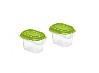 set 2 mini contenitori per frigo e congelatore