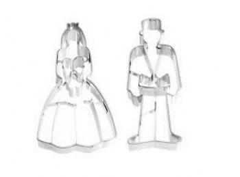 set 2 stampo forma taglia biscotti coppia sposo sposa birkmann