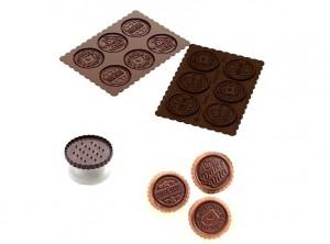 kit stampino biscotti placca silicone cioccolato