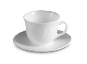 tazza caffè vetro bianco opalino arcopal trianon