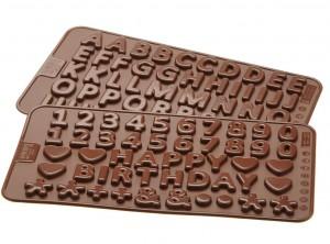 stampo cioccolatini silicone lekue alfabeto e numeri