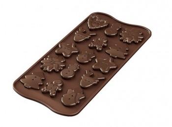 stampo placca silicone cioccolatini bottone natale