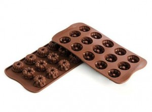 placca stampino cioccolatini silikomart mini budino