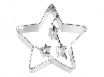stampo frollino biscotto maxi stella con stelline birkmann