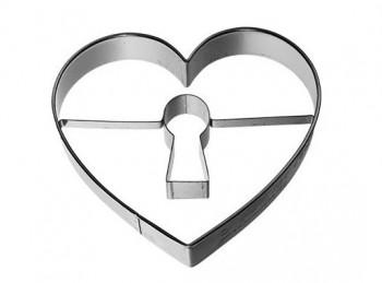 stampino taglia pasta biscotto maxi cuore con serratura