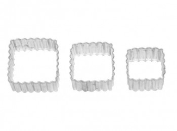 set tris stampini taglia pasta forma quadra birkmann