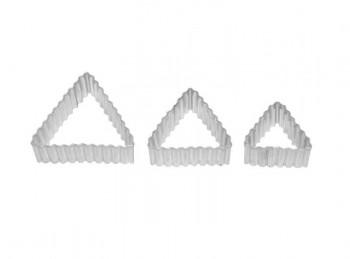 set 3 stampini taglia pasta forma triangolo birkmann