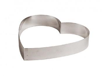 stampo anello cuore torte e mousse acciaio inox paderno