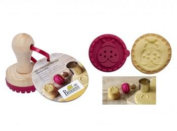 stampo biscotti frollini disco con impronta coccinella