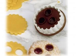 stampo biscotti natale linzer maibak con pulsante