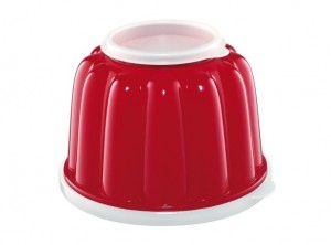 stampo budino plastica con coperchio 1 litro kuchenprofi