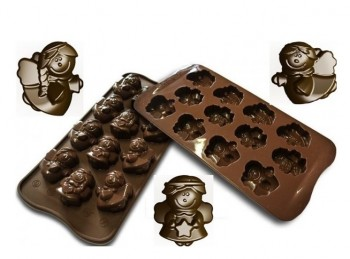 stampo placca silicone per cioccolatini forma angelo silikomart
