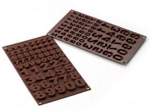 stampo cioccolatini silicone numeri