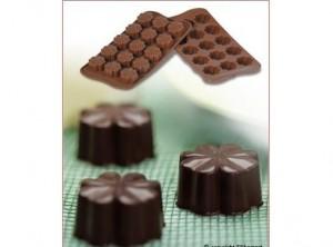 stampo cioccolatini silicone quadrifoglio