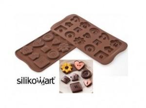 placca forma cioccolatini silicone bottoni