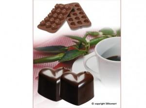 stampo cioccolatini silicone silikomart cuori