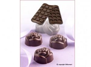 stampo cioccolatini silicone silikomart rose