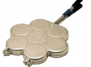stampo cuoci tigelle ghisa alluminio per gas 7 posti