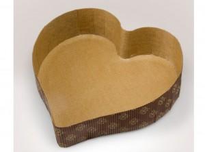 stampo cuore carta da forno