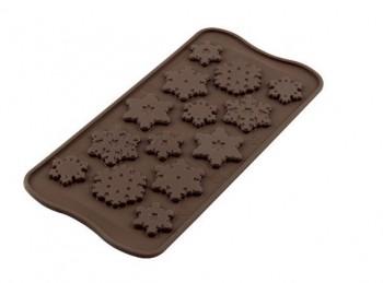 stampo in silicone per cioccolato forma di fiocchi di neve e ghiaccio