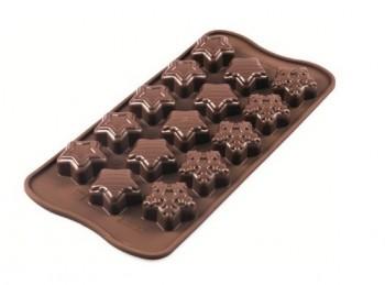 stampo forma cioccolatini dolcetti stelline silikomart