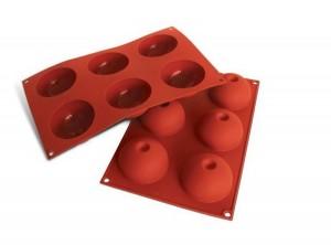 stampo forma mezza sfera con incavo silicone silikomart