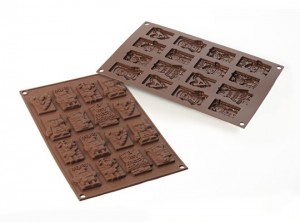 stampo forma cioccolatini tavoletta soggetti natale silikomart