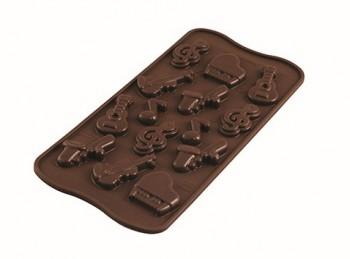 stampo forma cioccolatini soggetto musica silikomart