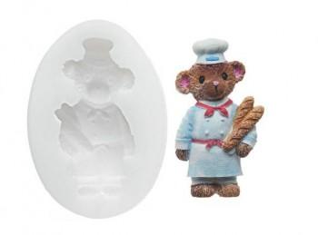 stampo impronta orso panettiere per marzapane o pasta di zucchero