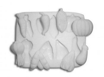 stampo impronta per pasta di zucchero soggetti ortaggi verdura orto silikomart
