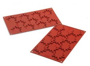 placca biscotti cioccolatini stella punte fiocco neve silikomart