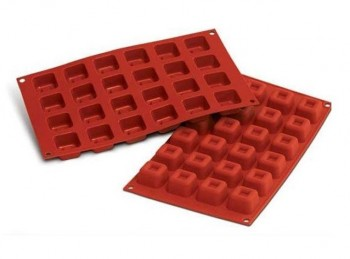 stampo silicone mini quadrotti brownies con scalino