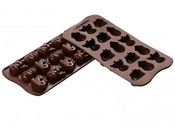 stampo placca forma cioccolatini soggetto invernale natale