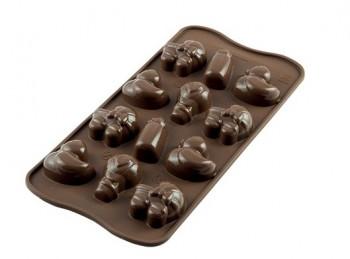 stampo forma cioccolatini soggetti bambino baby silikomart