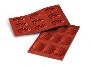 stampo placca silicone 9 biscotto conchiglia madeleine silikomart